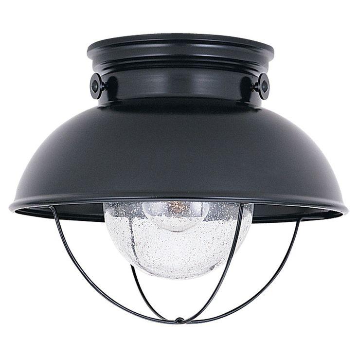 Sebring Black Outdoor Ceiling Light Seagull Flush Mount Outdoor Ceiling Lighting Outdoor L