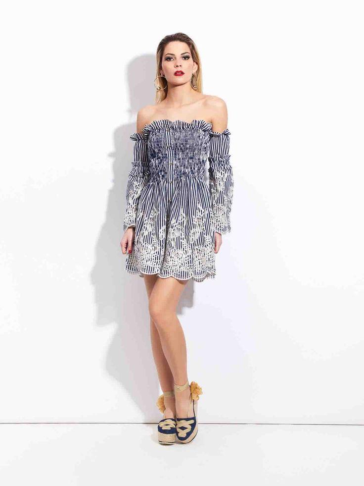 😍 #Vestido de #rayas de #moda de #Sahoco disponible en #MaribelFernández‼ Disponible en la talla L, se nos agotan...