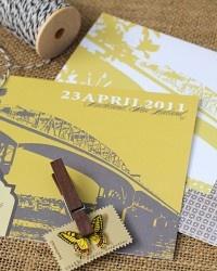 Cute illustrated wedding invitations!