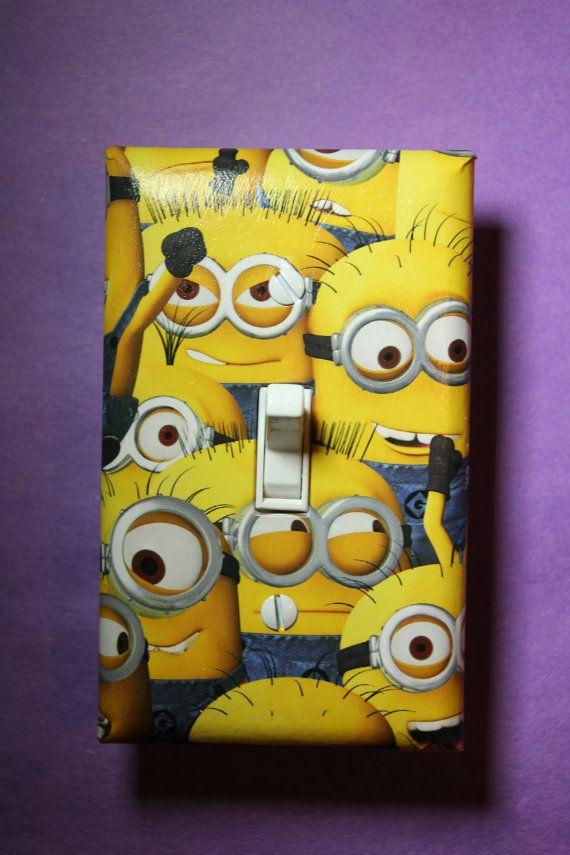Despicable Me Minions Light Switch Plate Cover by ComicRecycled