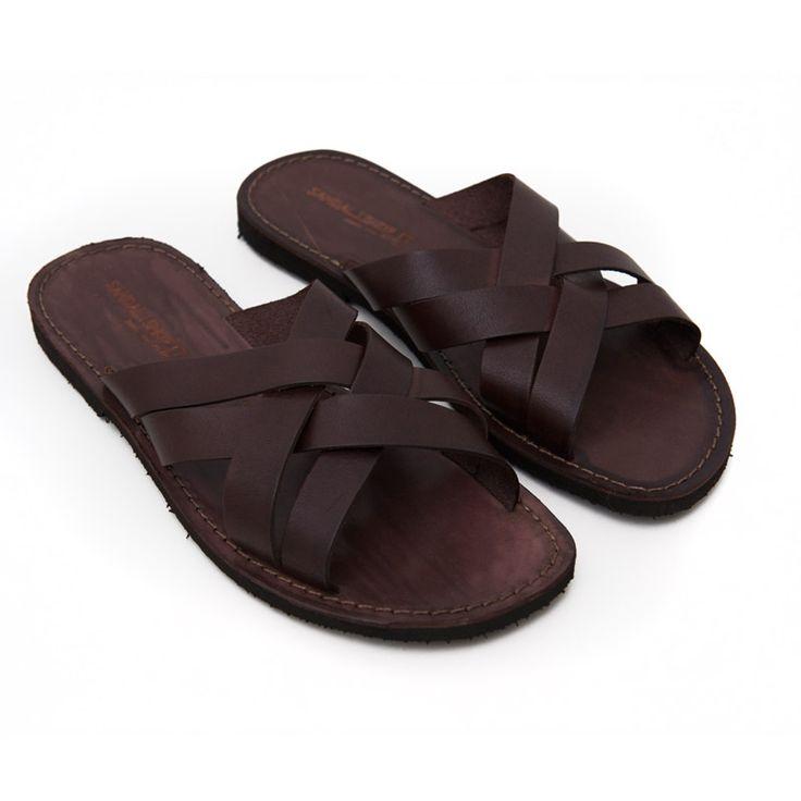 Sandalo chidro marrone da uomo