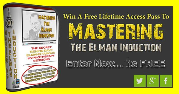 Enter the monthly draw to win a free lifetime subscription to Mastering The Elman Induction http://youcanhypnotize.com/get-mastering-the-elman-induction-for-free/