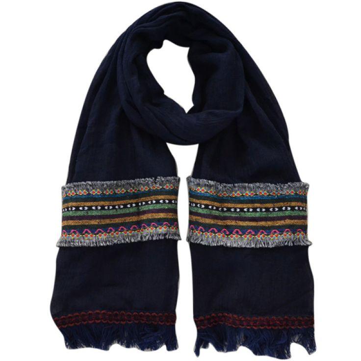 Sjaal India blauw