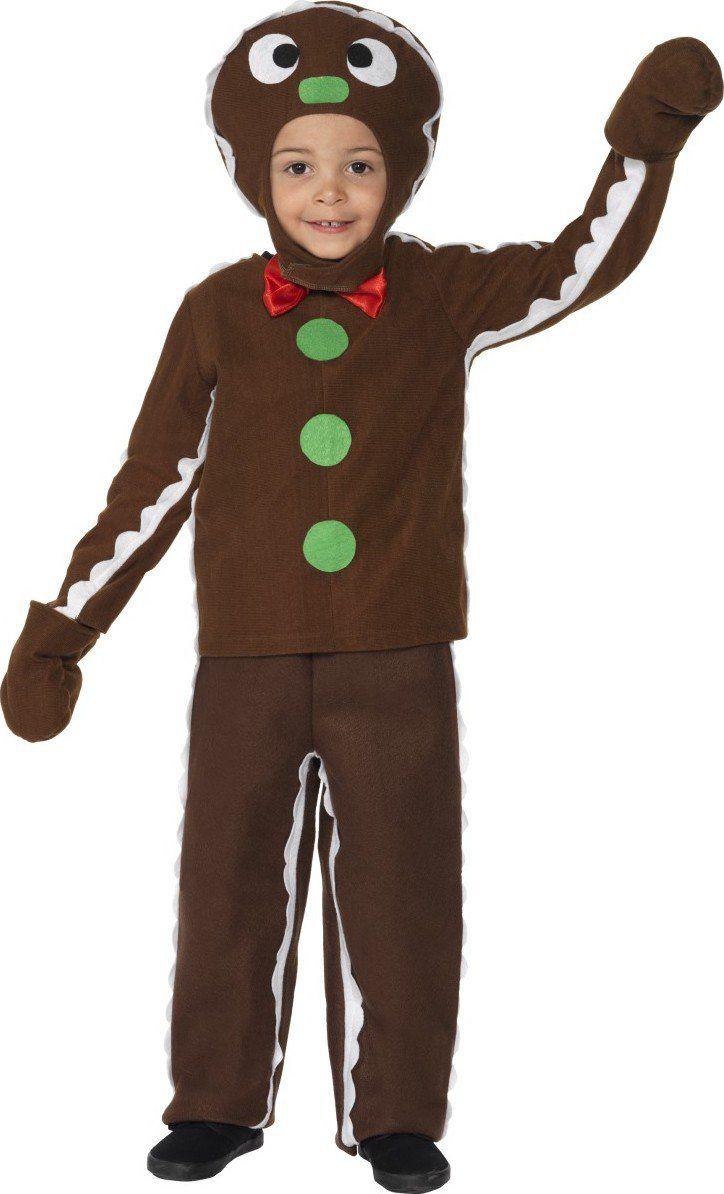 Disfraz de galleta de jengibre Navidad infantil