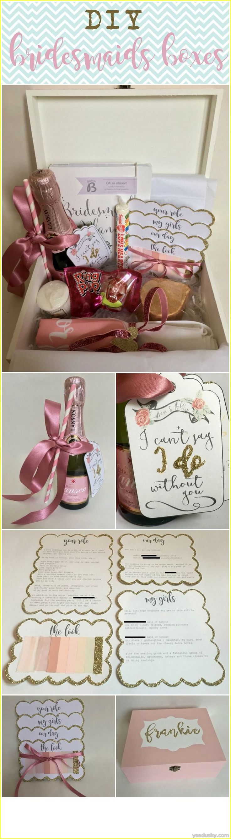 nice 50 Best Bridesmaid Gifts DIY Cheap and Simple
