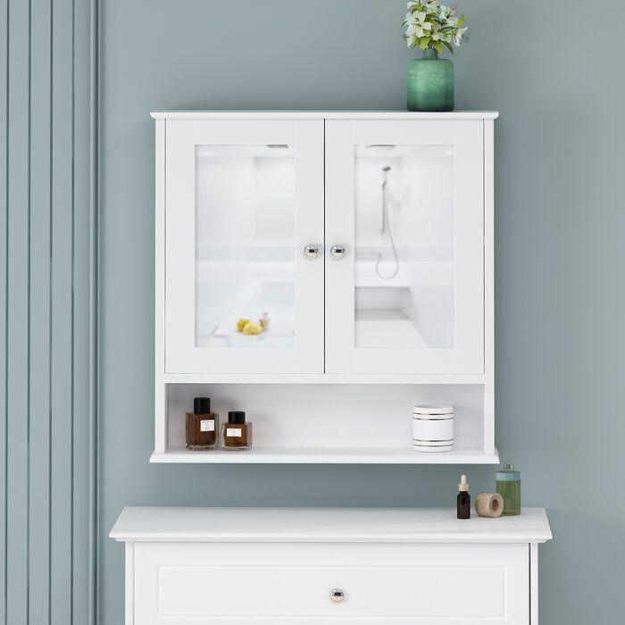 Galen Surface Mount Framed 2 Door Medicine Cabinet With Shelves Shelves Cabinet Bathroom Necessities