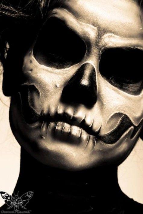dia de los muertos day of the dead sugar skull makeup halloween samhain - Halloween Skull