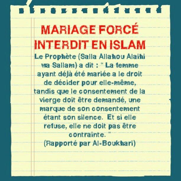 les anti islam ne semblent pas au courant bien que dans certaines regions - Mariage Forc Islam