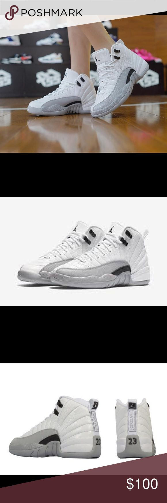 BRAND NEW W/O BOX AIR JORDAN 12 BARONS Awesome condition, not a single flaw! Tried on but never worn. Release date was Summer 2016. WHITE/BLACK/WOLF GREY.  ------------- $80 via 🅿️...🅿️... & I SHIP IMMEDIATELY 😘 Nike Shoes Sneakers