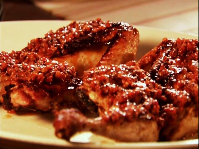 Yogurt marinated grilled chicken with harissa. Harissa is optional, I ...