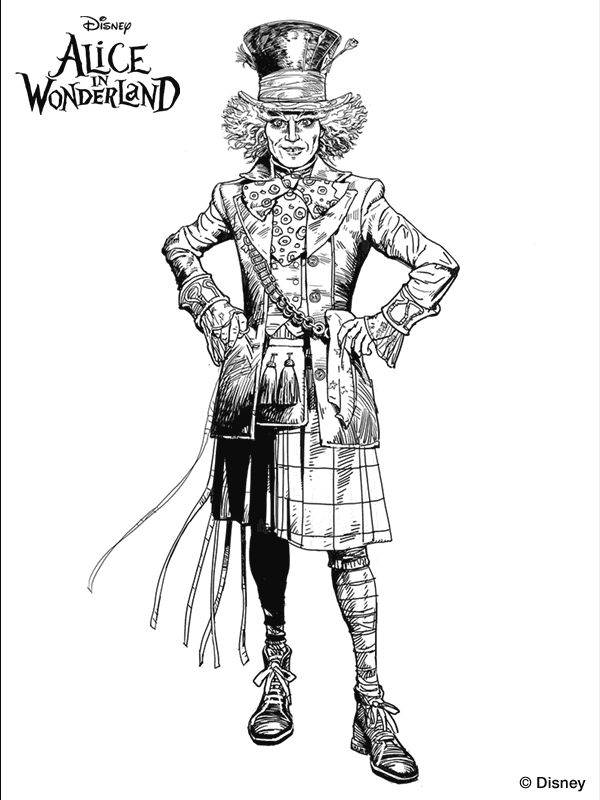 mad hatter coloring pages - photo#31