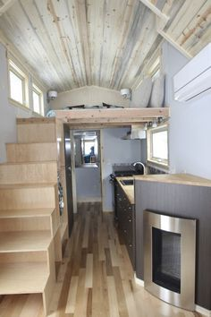 Tiny House Tiny home with propane fireplace stove full kitchen. mobile
