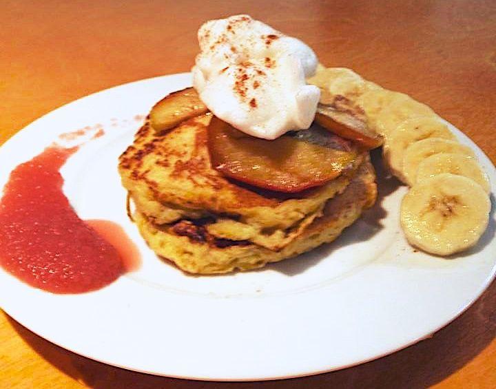 Pancake paradisiaque au tofu soyeux