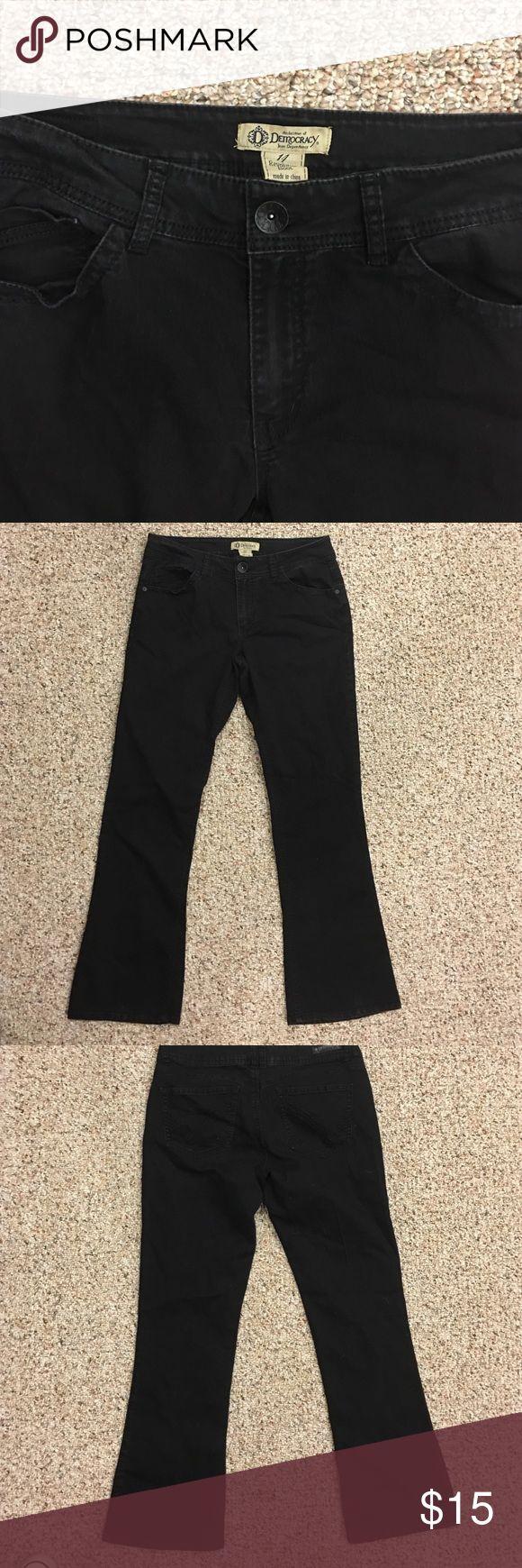 "Democracy black bootcut jeans. Size 14 Black democracy brand boot cut size 14 jeans. Lightweight denim, 30"" inseam democracy Jeans Boot Cut"