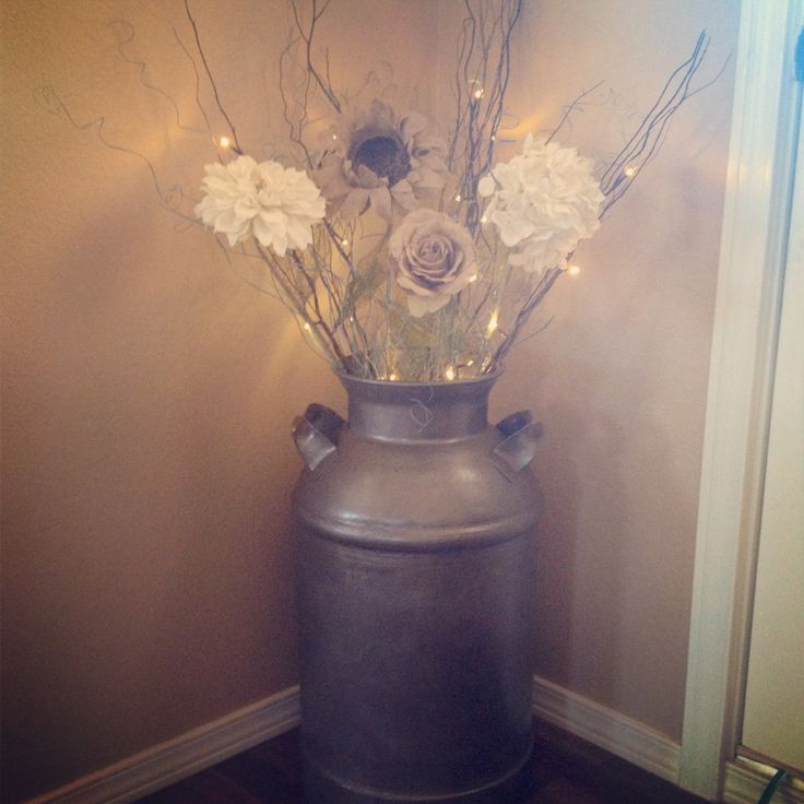 My new upcycled milk can!!