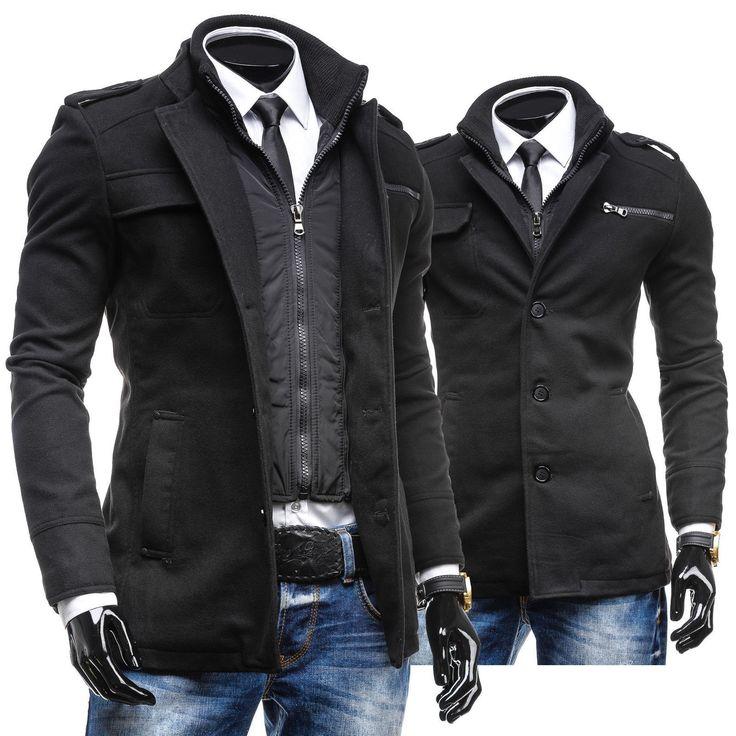 PPM 8856 Cappotto uomo Nero Giacca Mantella SALE invernale Caldo 4D4 da | eBay