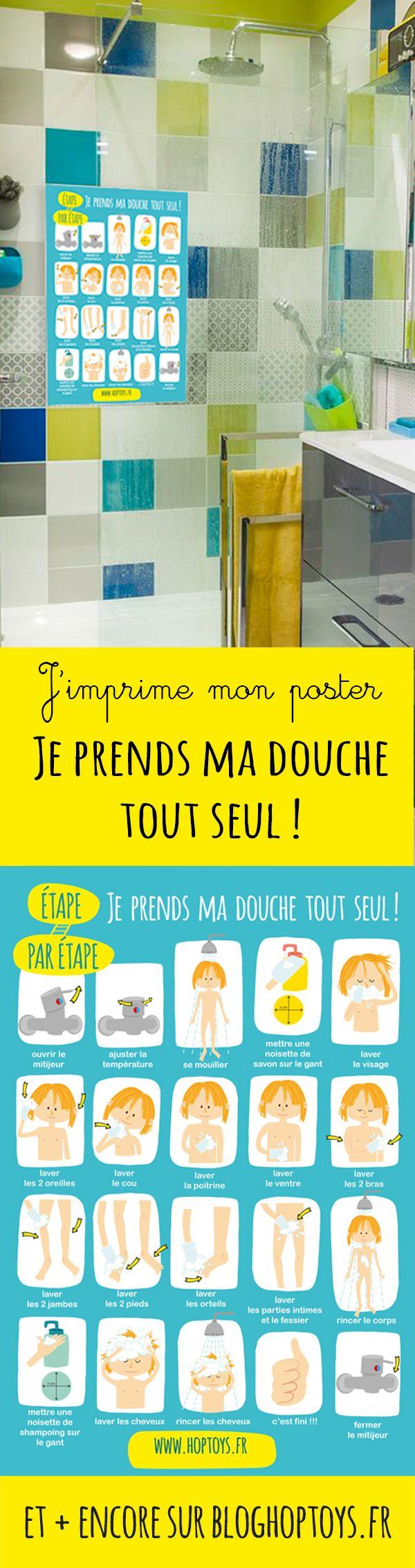 J'imprime mon poster : Je prends ma douche tout seul
