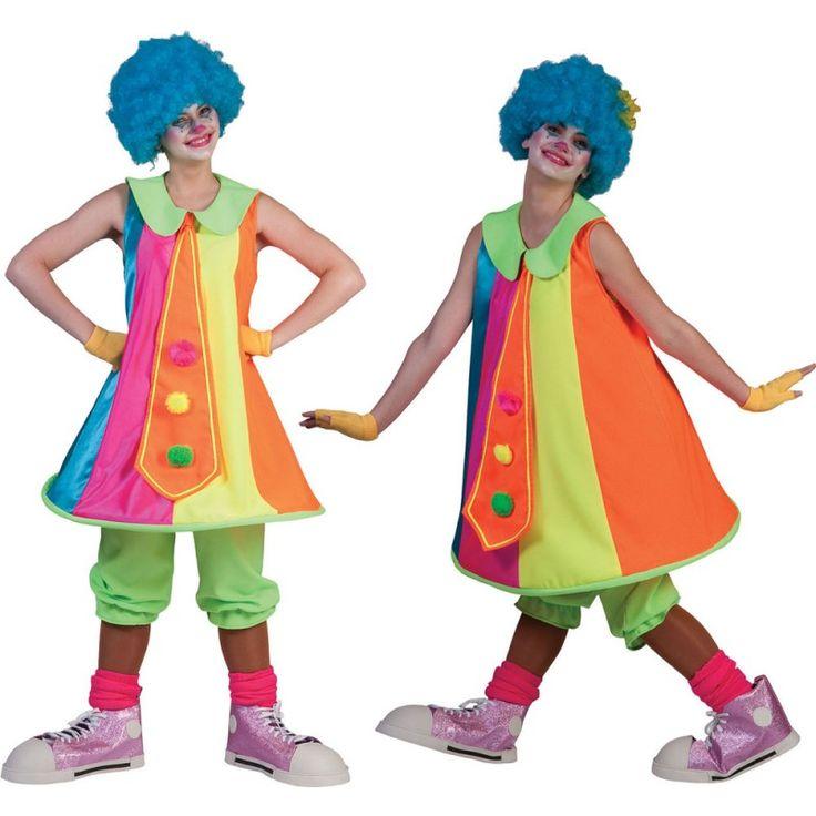 Das Silly Tilly Hoop Clownin Damenkostüm besteht aus einem bunten Kleid mit Reifring und angenähter Krawatte. Abrundend ist die grüne Kniebundhose. Ideal als Gruppenkostüm für Fasching und Karneval.Die Krawatte ist das heimliche Highlight dieses Clownin-Kostüms. Denn sie kommt in XXL-Ausführung daher und ist mit drei Bommeln in Pink, Gelb sowie Grün gestaltet, die toll auf dem Orange zur Geltung kommen. Das Silly Tilly Hoop Clownin Damenkostüm wartet aber auch mit seinem markanten grünen…