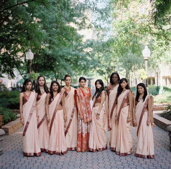 Indian bride with bridesmaids                                                                                                                                                                                 More