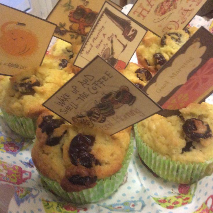Muffin ai mirtilli rossi