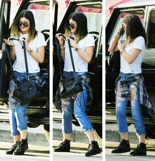 Kilye Jenner edgy tomboy outfit.   Styleu0026#39;   Pinterest   Moda mujer