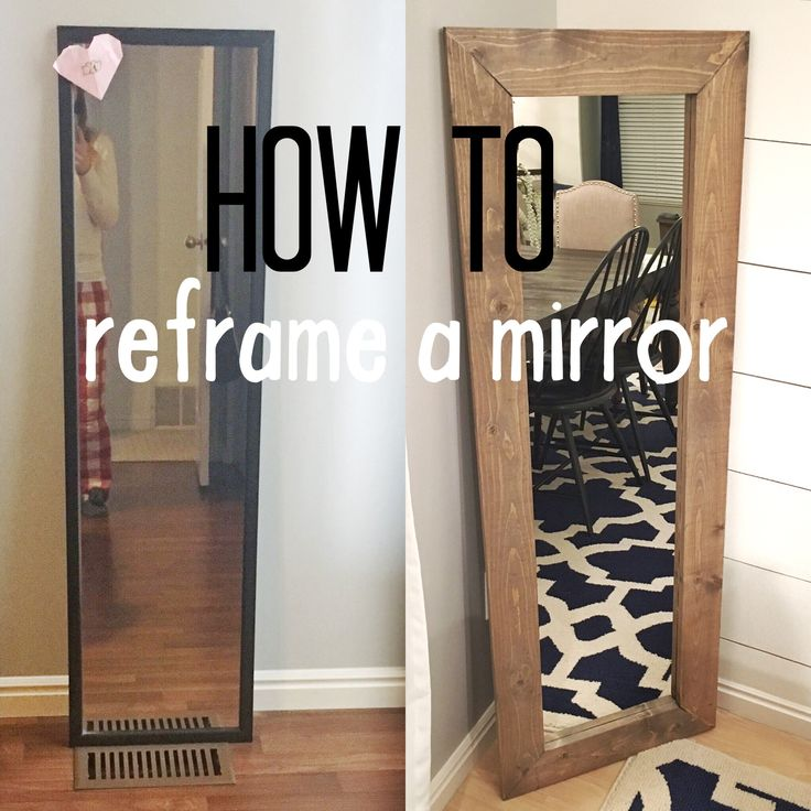 How to reframe a mirror