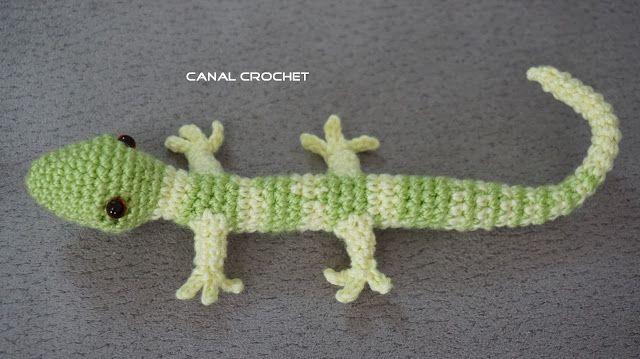 CANAL CROCHET: Lagartija amigurumi patrón libre.