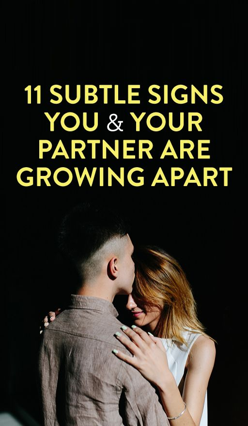 How to fix growing apart in a relationship