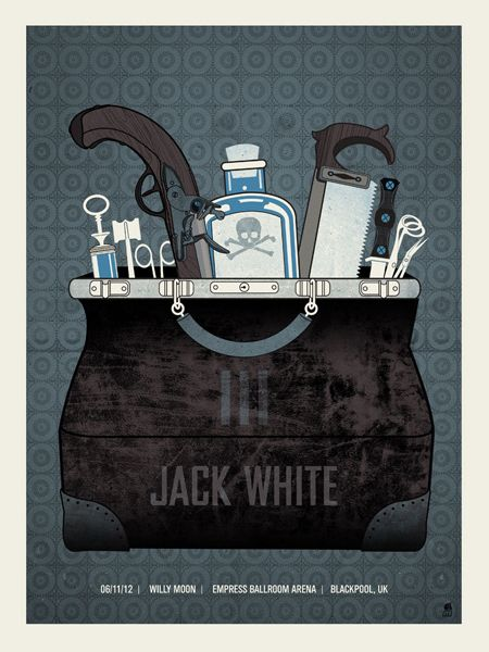 Jack White | Empress Ballroom Arena, Blackpool UK 2012 | Design: Methane Studios