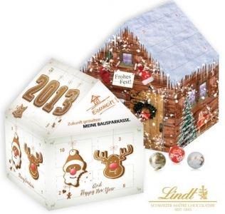 Promotional advent calendar House Shaped Lindt chocolate Christmas  Advent Calendar