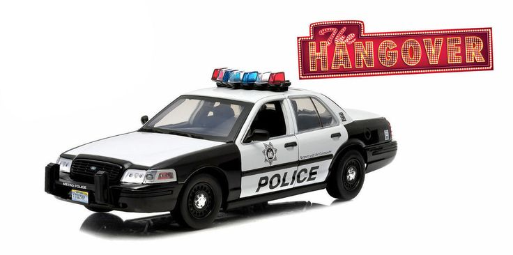 Diecast Auto World - Greenlight 1/18 Scale 2000 Ford Crown Victoria Police Car With 3 Figures THE HANGOVER Diecast Car Model 12911, $64.99 (http://stores.diecastautoworld.com/products/greenlight-1-18-scale-2000-ford-crown-victoria-police-car-with-3-figures-the-hangover-diecast-car-model-12911.html)