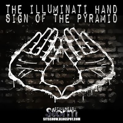 """The Illuminati Hand Sign of the Pyramid 