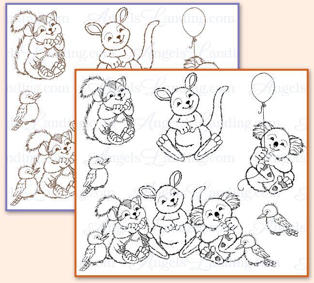 Aussie Animals: Hand-Drawn Digital Stamping Images