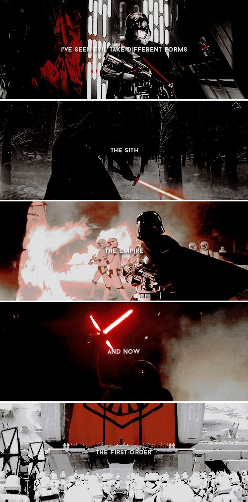"""I've seen evil take many different forms; the Sith, the Empire and now the First Order.""  #starwars"