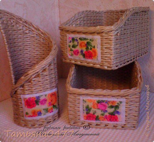 Поделка изделие Плетение Красота в простоте Бумага газетная Трубочки бумажные фото 3