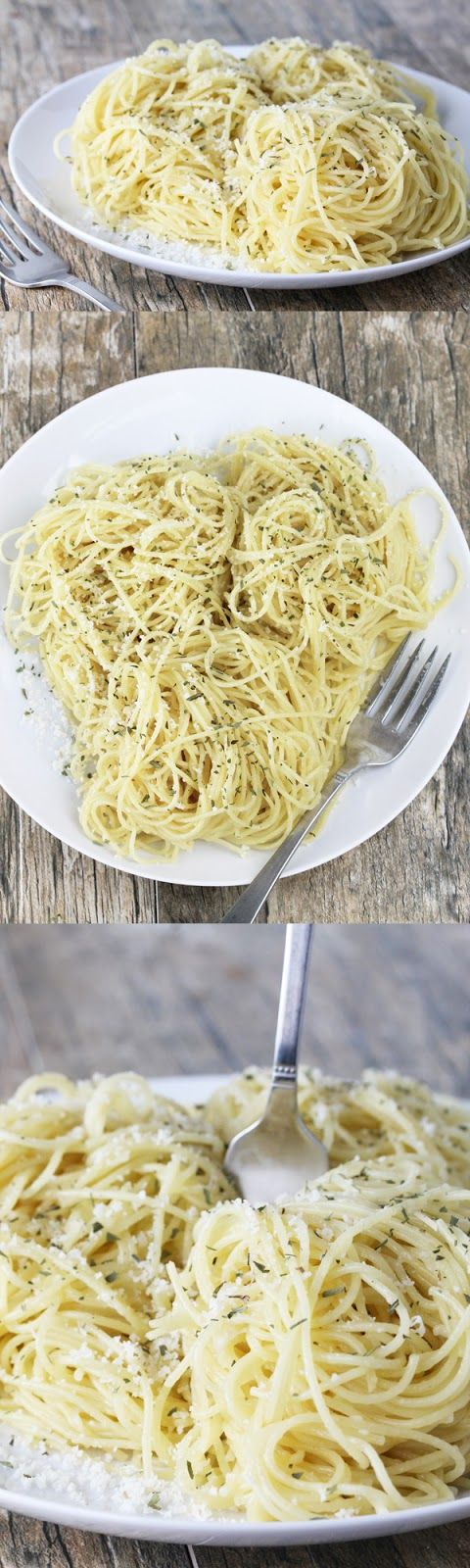 Brown Butter Garlic Parmesan Angel Hair Pasta. A quick, easy, elegant dish you can whip up in under 15 minutes. Add some meat and/or veggies for a complete meal, or leave it as a simple side.