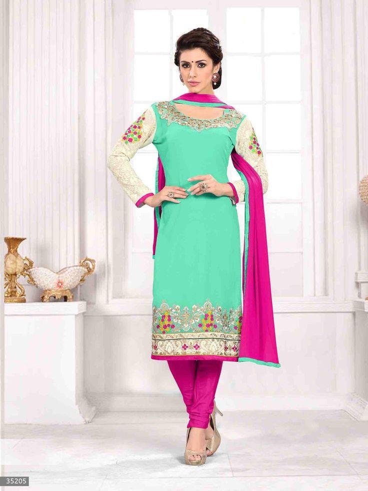 Indian New Designer Anarkali Wedding Bollywood Pakistani Suit Salwar Kameez 1768…