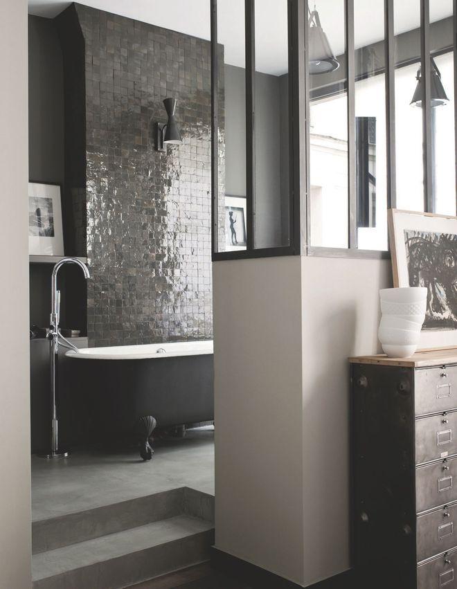 56 best images about salle de bain on pinterest ace hotel loft and modern - Salle de bain classique chic ...