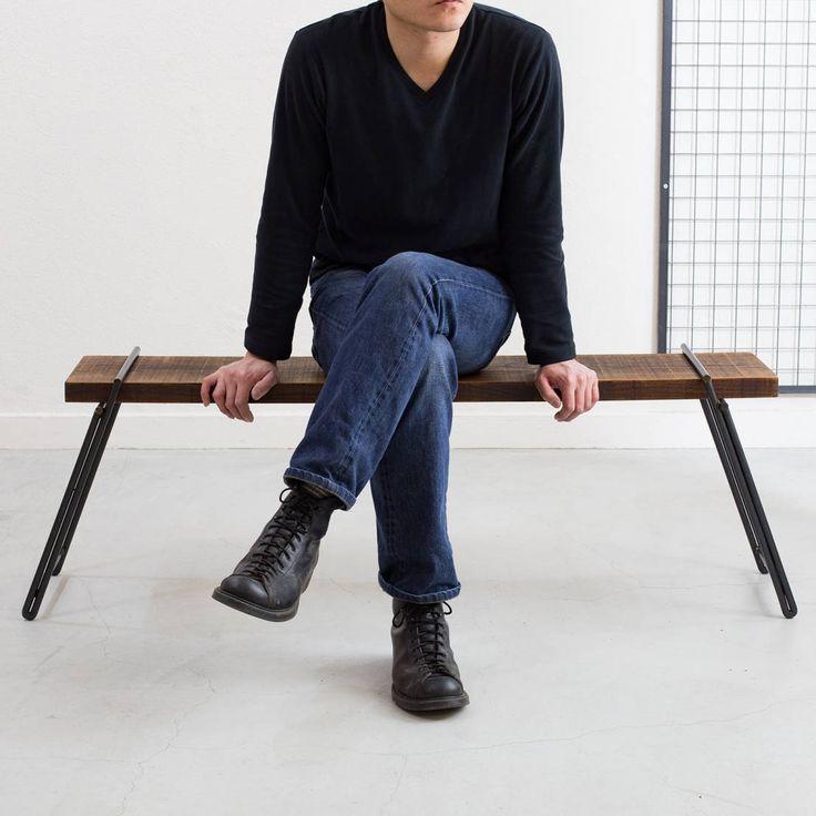 Dichotomic の 椅子 【 工具不要 】 足場板アイアンベンチ