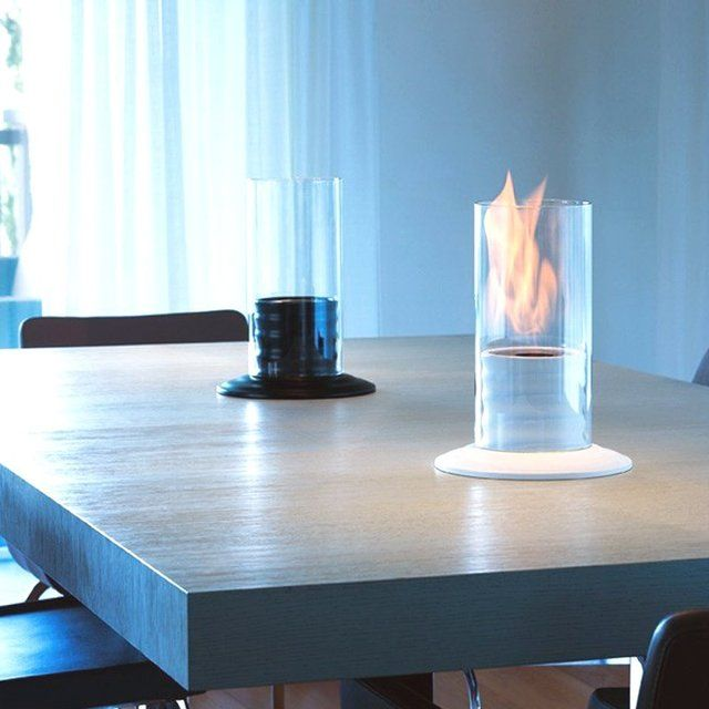 The Gasper Ceramic Bio-Fireplace created by Italian design company Acquaefuoco is a lovely and portable mini-fireplace.