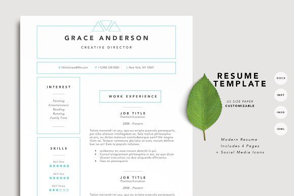 Sale Resume Template   Page By Desireelange On Creativemarket