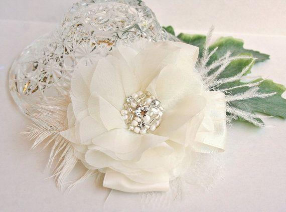 Capelli da sposa fiore accessori per capelli di FancieStrands, $60.00