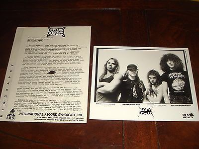 Ultra Rare NUCLEAR ASSAULT SURVIVE 1988 IRS RECORDS PRESS KIT - ANTHRAX