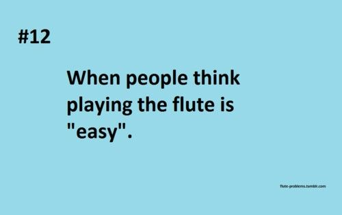 Not!!......flute player problems