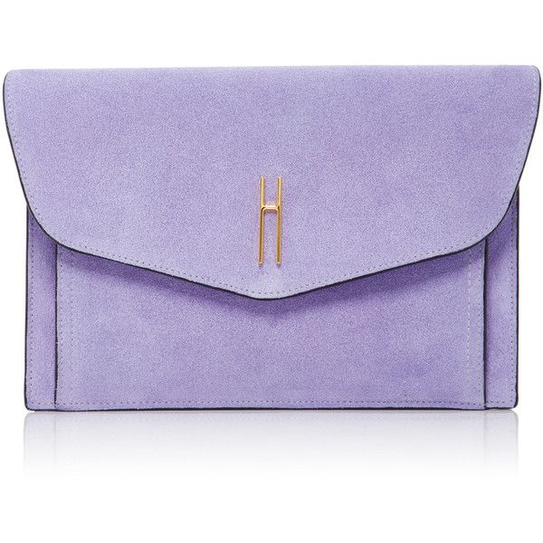 Hayward Bobby Clutch found on Polyvore featuring bags, handbags, clutches, purple, purple suede handbag, purple purse, purple handbags, suede purse and suede handbags