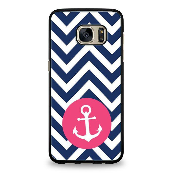 Monogram Blue Anchor Samsung Galaxy S6 Edge Case | yukitacase.com