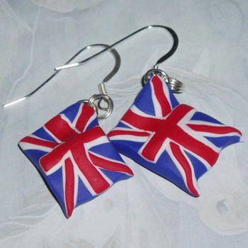 Handmade British Flag earrings from @Judith Gray #diamondjubilee