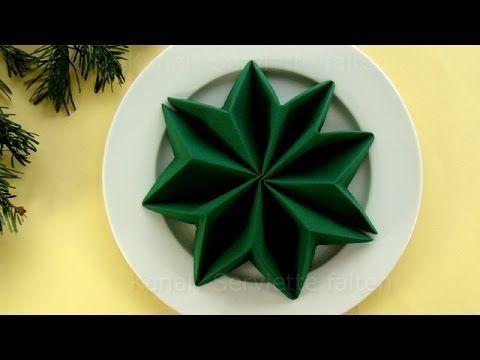 Die besten 25+ Servietten falten tannenbaum Ideen auf Pinterest - weihnachtsservietten falten