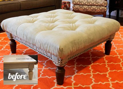 so ready to have an ottoman as a coffee table