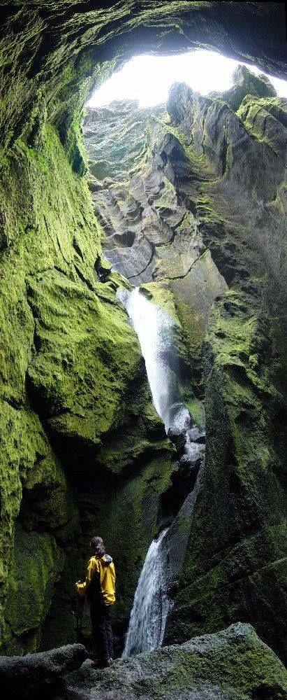 The beautiful Stakkholtsgjá Gorge in Thórsmörk, Iceland